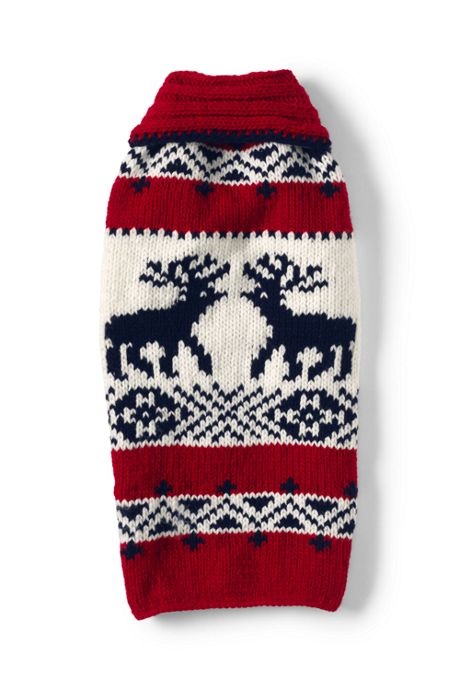 Dog Knit Reindeer Christmas Sweater