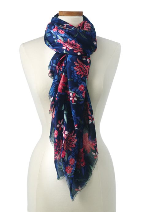 Women's Deep Sea Multi Floral Scarf