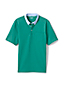 Men's Stretch Piqué Polo Shirt with Woven Collar