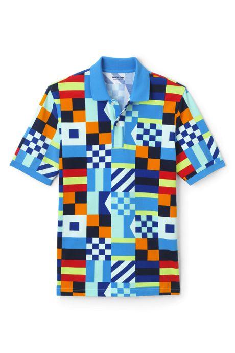 Men's Tall Short Sleeve Print Comfort-First Mesh Polo Shirt