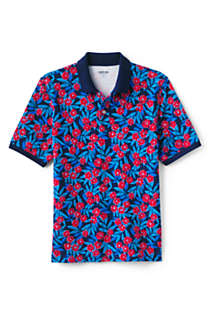 Men's Short Sleeve Print Comfort-First Mesh Polo Shirt, Front