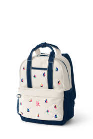 Embroidered Handle Canvas Backpack