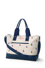 Embroidered Canvas Weekender Duffle Bag