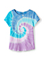 Little Girls' Short Sleeve Cotton Tie-Dye T-shirt