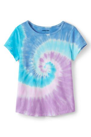 80141bee820 Girls  Short Sleeve Cotton Tie-Dye T-shirt