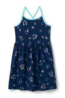 Girls Strappy Tank Dress, Front