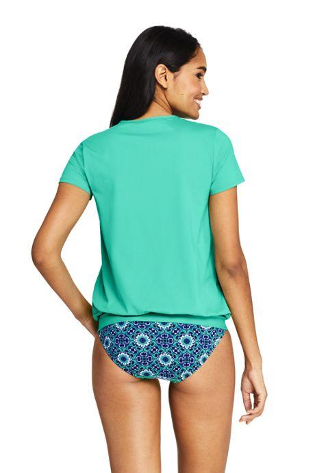 Women's Short Sleeve Blouson Swim Tee Rash Guard