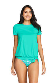 Women's Short Sleeve Blouson Swim Tee Rash Guard