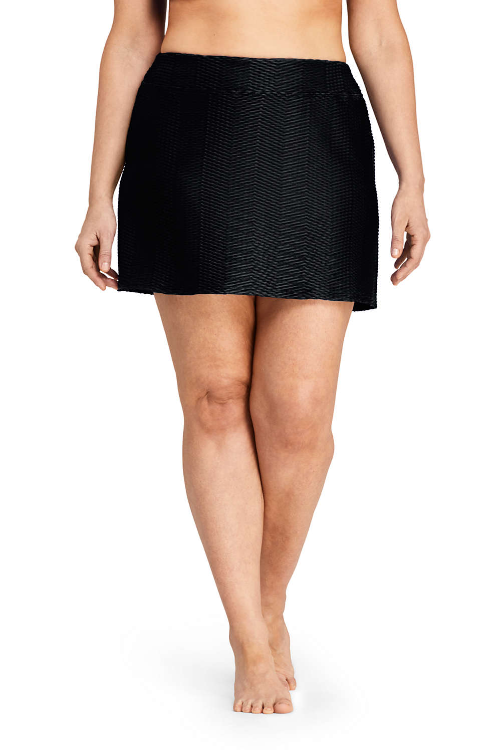 edb01f6d1c7 Women's Plus Size Texture SwimMini Swim Skirt from Lands' End