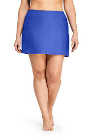 Women's Plus Size Texture SwimMini Swim Skirt