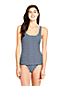 Women's Textured Stripe Square Neck Tankini Top