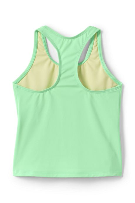 Girls Slim Racerback Graphic Tankini Top
