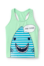 Girls Plus Racerback Graphic Tankini Top
