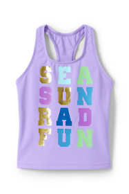 Little Girls Racerback Graphic Tankini Top