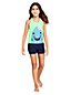Little Girls' Graphic Racer-back Tankini Top