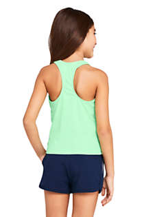Girls Slim Racerback Graphic Tankini Top, Back