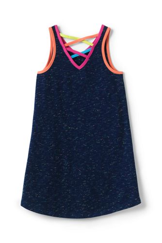 Girls Rainbow Sprinkles Tank Dress