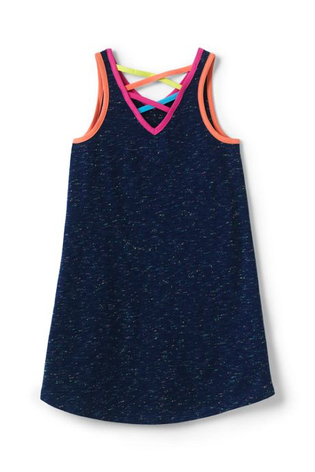 Girls Plus Size Rainbow Sprinkles Tank Dress