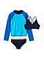 Girls' Three-piece Colour Change Rash Vest Swim Set