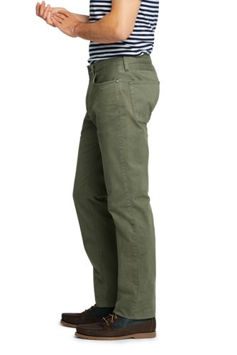Men's Straight Fit Stretch Garment Dye 5 Pocket Knockabout Chino Pants