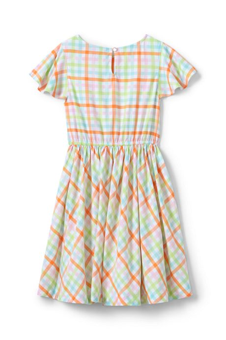 Girls Plus Size Plaid Twirl Dress