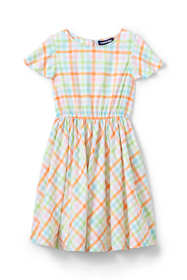 Little Girls Plaid Twirl Dress