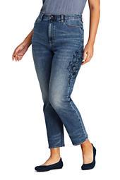63392d47a6 Women s Plus Size Lightweight Denim Jumpsuit from Lands  End
