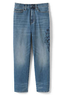 Women's High Rise Stove Pipe Ankle Jeans, Front