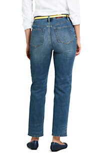 Women's High Rise Stove Pipe Ankle Jeans, Back