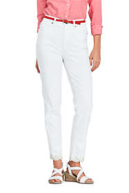 Women's Petite High Rise Slim Straight Leg Ankle Jeans - Embroidered