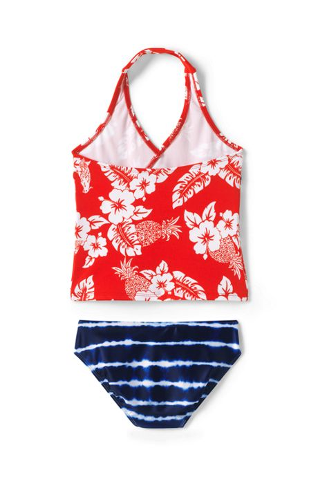 Little Girls Tiered Tankini Set