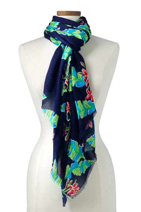 Women's Textured Floral Scarf