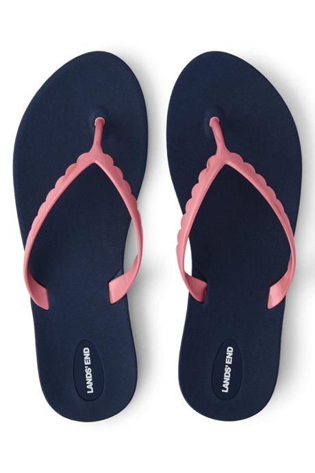 Women's Scallop Flip Flop Sandals
