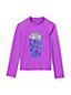 Girls' Rash Vest, Sequin Graphic