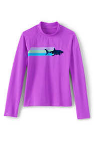 Little Girls Sequin Graphic Rash Guard