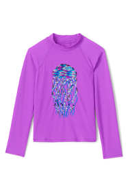 Girls Sequin Graphic UPF 50 Sun Protection Rash Guard