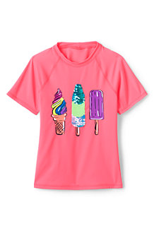 T-Shirt de Bain Graphique, Fille