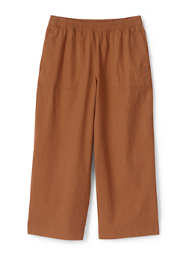 Women's Wide Leg Crop Linen Blend Pants