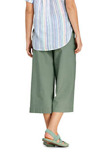 Women's Petite Wide Leg Crop Linen Blend Pants, Back