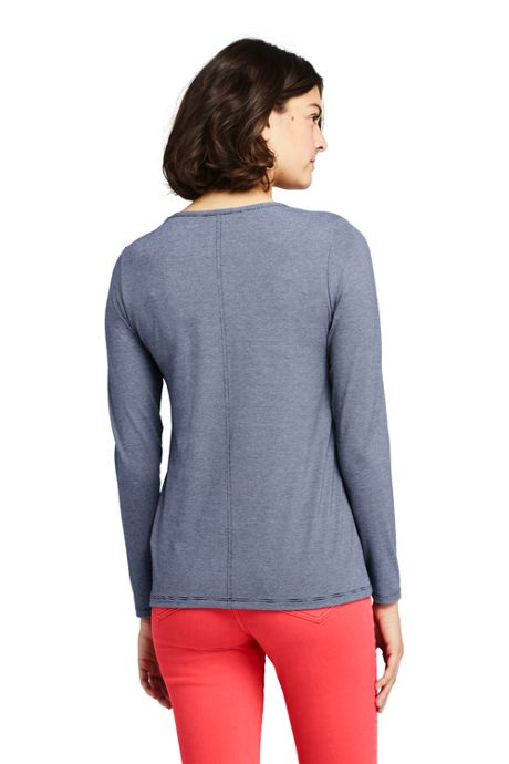 Women's Long Sleeve UPF Wicking T-Shirt - Stripe