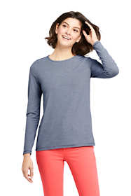 Women's Petite Long Sleeve UPF Wicking T-Shirt - Stripe