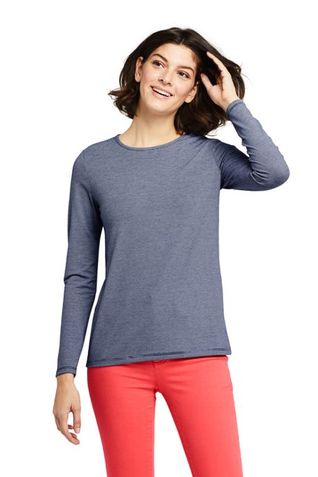 Women's Tall Long Sleeve UPF Wicking T-Shirt - Stripe