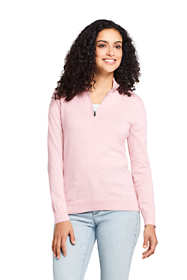 Women's Tall Long Sleeve Supima Quarter Zip Sweater