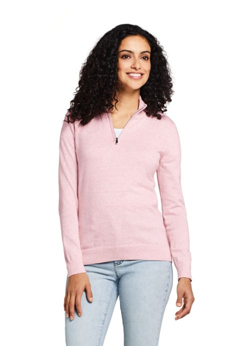 Women's Long Sleeve Supima Quarter Zip Sweater