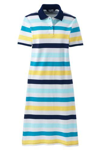 Robe Polo Imprimée à Manches Courtes, Femme Stature Standard