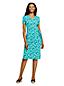 Women's Plus Patterned Knot Front T-shirt Dress