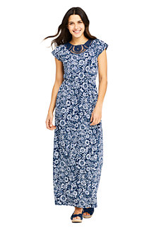 Women's Lace Detail Patterned Maxi Dress