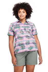 Women's Plus Size Casual Button Front Madras Shirt