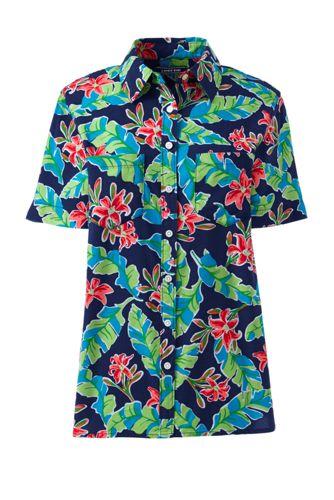 Women's Casual Button Front Print Shirt