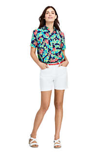 Women's Casual Button Front Print Shirt, alternative image